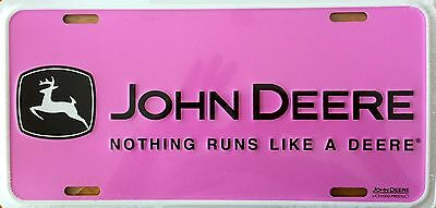 John Deere Pink - Nothing Runs Like A Deere - License Plate (LP-080-323)
