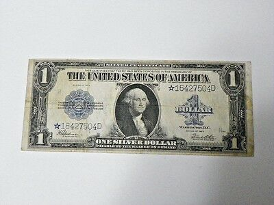 1923 Star Note $1 Silver Certificate Speelman & White Large Size U.S. Note 7504