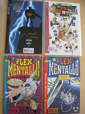 FLEX MENTALLO : complete 4 ISSUE SERIES by GRANT MORRISON & FRANK QUITELY. 1996