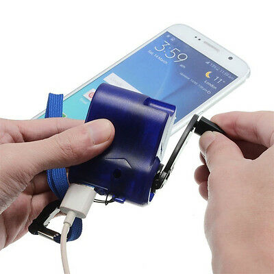 Universal Charger Travel USB Emergency Hand Cranking Dynamo Electrical