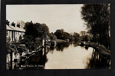 St. Neots - River Terrace - real photographic postcard