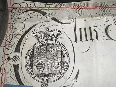 1728 Ornate Vellum Indenture, Newbury, Berkshire & Seal, A-Grade