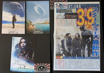 MCH28192 Star Wars Rogue One Japanese Chirashi Promo Mini poster flyer set