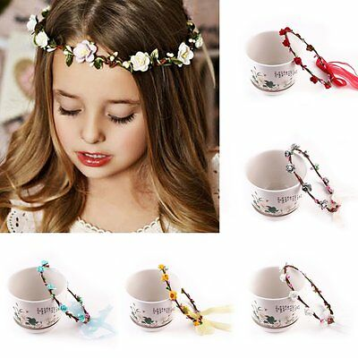 Kids Girls Baby Toddler Flower Headband Hair Band Accessories Headwear Head Wrap