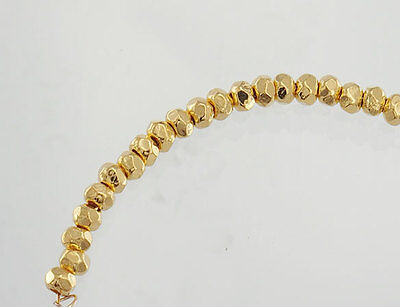 Karen hill tribe 24k Gold  Vermeil Style 30 Faceted Nugget Beads 3x2mm.