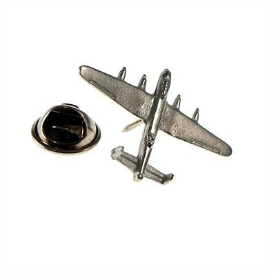 English Made Lancaster Bomber Aircraft Pewter Lapel Pin Badge XDTP003