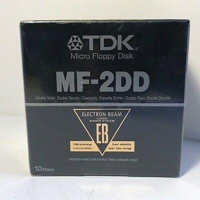 Tdk Micro Floppy Disk Mf-2Dd Nib New In Box Sealed 10 Pack Double Sided Density