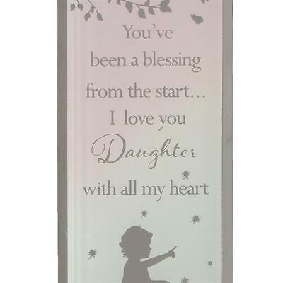 Reflections of the Heart Mirror Glass Standing Plaque Gift – Daughter