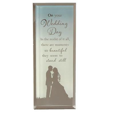 Reflections of the Heart Mirror Glass Standing Plaque Gift – Wedding Day