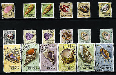 KENYA 1971 The Complete Sea Shells Set SG 36 to SG 52a VFU