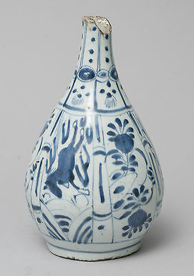 Antique Chinese Blue & White Porcelain Kraak Vase - Wanli Period