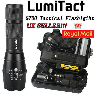 2 Pack 6000lm X800 ShadowHawk Tactical Flashlight LED Military Grade G700 Torch