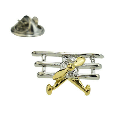 Two Tone Triplane Lapel Pin Badge X2AJTP579
