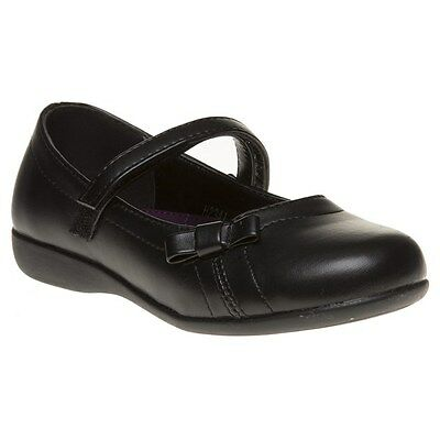New Infants SOLESISTER Black Phoebe Pu Shoes Slip On