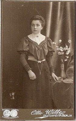 CDV photo Feine Dame / benannt - Berlin 1900er