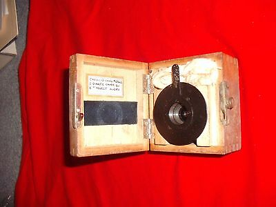 Rare Antique  Carl Zeiss Lens large microscope Lens in fitted wood case