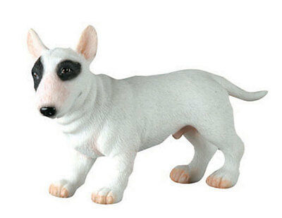 Bull Terrier Dog Puppy Figurine.lifelike Statue.cute Little Pup 6996 S