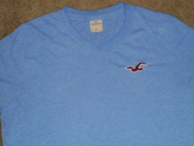 HOLLISTER Men's  SHORT SLEEVE V NECK T SHIRT Sz L LARGE