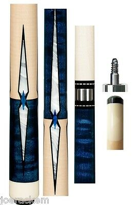 New Pechauer JP15-N Blue Stained Cue - 12.00mm Shaft - FREE 2x2, Extras & SHIP