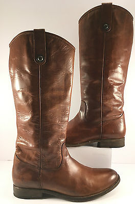Frye Brown Leather Melissa Knee High Riding Boot Womens Size US 10B