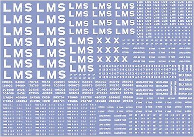 Modelmaster Lm301 Lms Wagon Lettering & Number Decals / Transfers