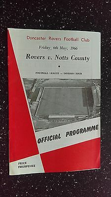 Doncaster Rovers V Notts County 1965-66