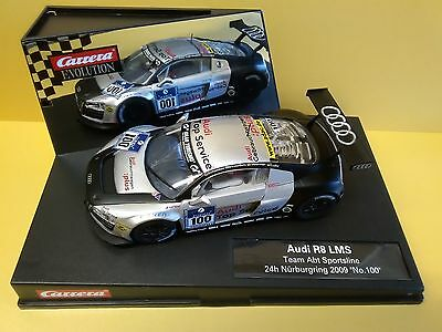 Carrera Evo 27321 Audi R8 Lms Team Abt Sportsline 2009 Scalextric Compatable..