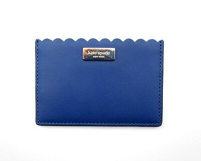 Kate Spade Business & Credit Card Case Leather ~ Hyacinth Blue ~ Maple Court