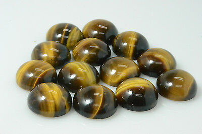 10 PIECES OF 4mm ROUND CABOCHON-CUT NATURAL AFRICAN GOLDEN TIGERS EYE GEMSTONES