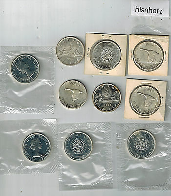 $10.00 Dollars Face Canadian 80% Silver Coins --Dollars