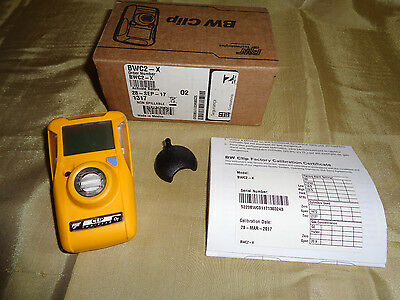 BW Clip 2 Year O2 Single Gas Detector BWC2-X BRAND NEW IN BOX