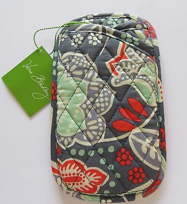 Vera Bradley Nomadic Florall Double Eye Case-floral quilted -gray orange green