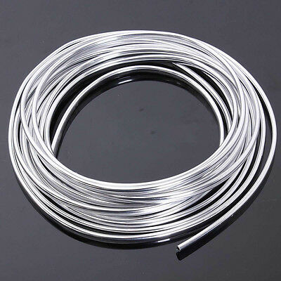15M  New Chrome Moulding Trim Strip Car Door Edge Scratch Guard Protector Cover