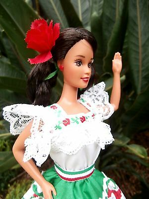 Vintage Mattel Barbie Of The World Doll  - Mexican -  Collector Edition