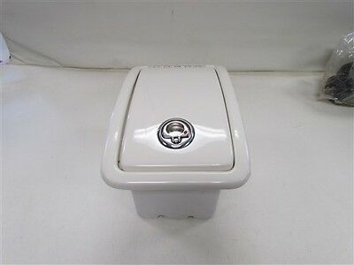 "Storage Bin W/ Stainless Steel Latch Off White 9 1/8"" X 14 1/2"" Marine Boat"