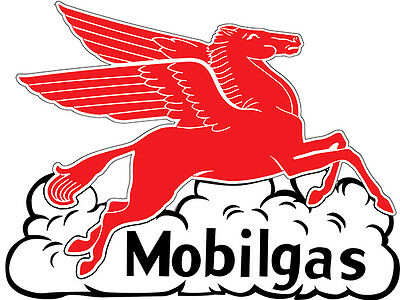 Reproduction Laser Cut MobilGas Pegasus Flying Horse Gas And Oil Sign Rg6459pp