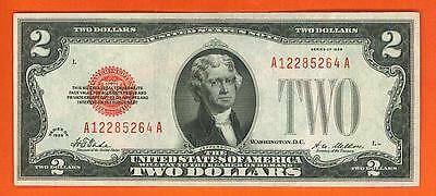 $2 1928 Red Seal *BEAUTIFUL* United States Note!