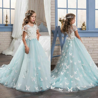 new Wedding Flower Girl Dress Communion Party Prom Princess Pageant Bridesmaid