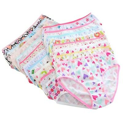 6pc/set Baby Kid Girl Print Underwear Cotton Panties Short Briefs Underpants US