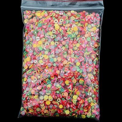 1000x Nail Art Fimo Slices Polymer Clay Mix Design Stickers Decoration Manicure