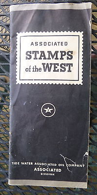 1938 Associated Stamps of the West n/ map Flying A  oil gas complete
