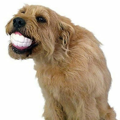 Funny Ball Teeth Toy Chew Squeaker Squeaky Sound Dogs Silicon Play Toys Pet Dog
