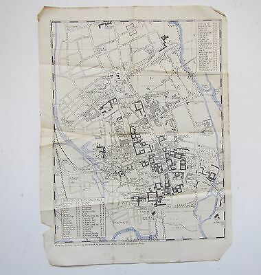 Old Map of Oxford from the Oxford University Handbook