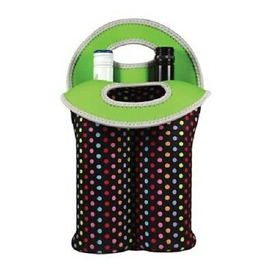 Avanti Insulated Twin Bottle Carrier Tote - Confetti