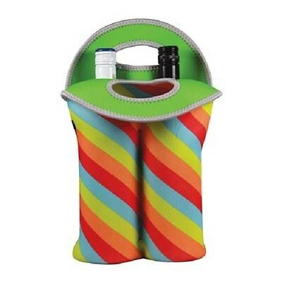 Avanti Insulated Twin Bottle Carrier Tote - Retro Stripe