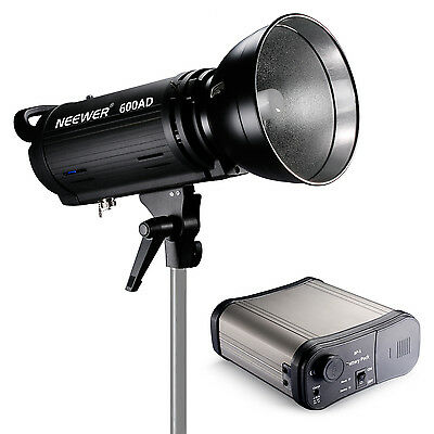 600AD strobe Dual Power AC/DC 110v Monolight Flash with Battery Pack Bowens