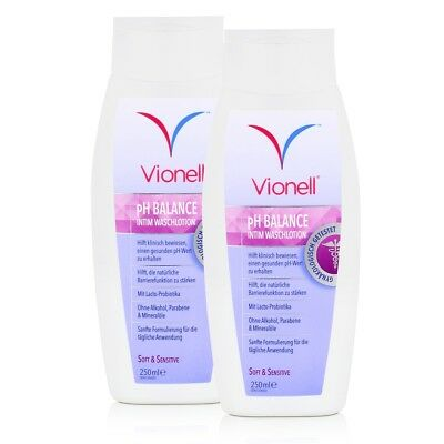 Vionell Intim Waschlotion pH Balance Soft & Sensitive 250ml (2er Pack)