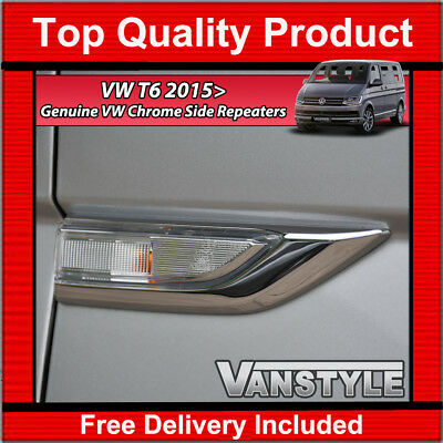 Vw T6 Transporter Oe Chrome Clear Side Repeaters Indicators Upgrade Trim (Pair)