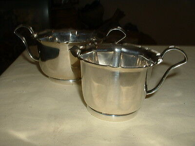 "Lovely Vintage ""yeoman Silver Plate"" Sugar And Cream Set"