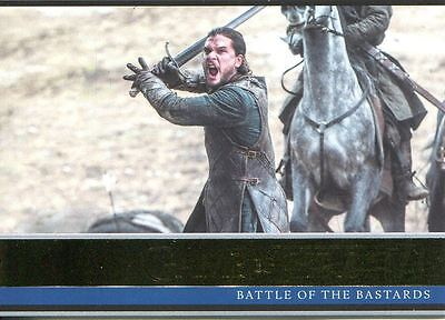 Game Of Thrones Season 6 Gold Base Card #26 Battle of the Bastards